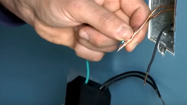 wrap the stranded wire around the solid wires