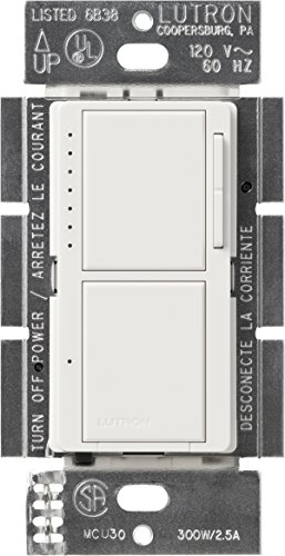 Lutron Dvelv300pwh Diva 300w Electronic Low Voltage Single Pole