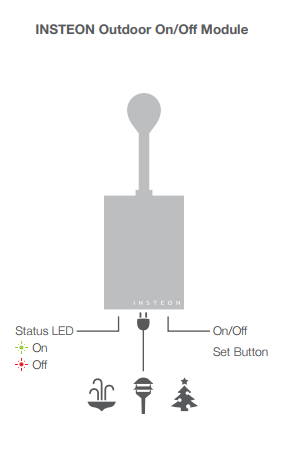 insteon outdoor on off module dimmer