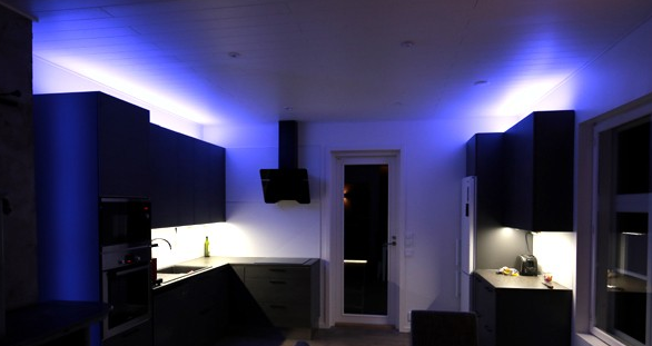color changing led lights kitchen