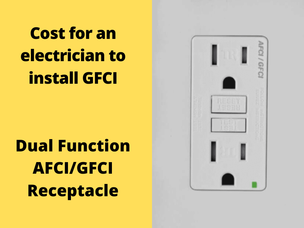 Cost for an electrician to install GFCI